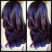 dark hair color ideas. 2 tone