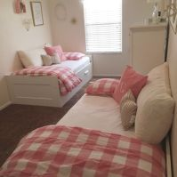 Ikea Beds. Tiny Space. Little Girl Room. Pink and Gold ...