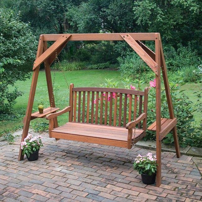 Great American Woodies Red Cedar Hanging Porch Swing Frame