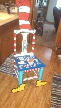 Super cute chair my mom and I painted to go with my dr ...