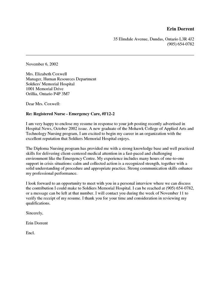 Rn Resume Cover Letter