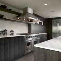 grey kitchen cabinets with grey wood flooring | Kitchen ...