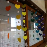 Decorate classroom windows. Could write prayers on the ...