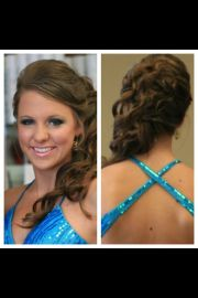 elegant prom hair. updo with front