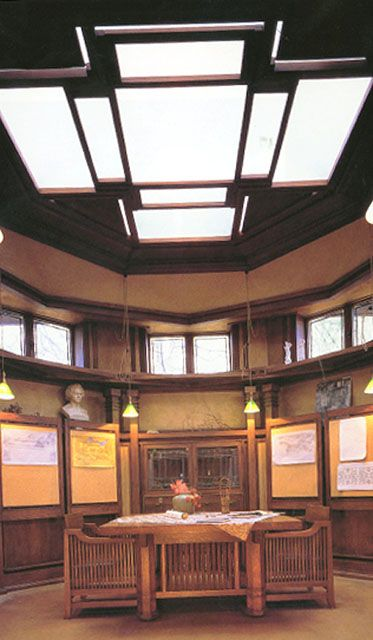 Library Frank Lloyd Wright Studio 1898  Architecture