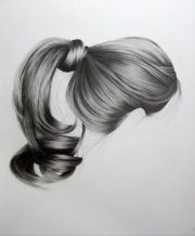 realistic hair drawings brittany