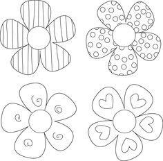 17 Best ideas about Flower Petal Template on Pinterest