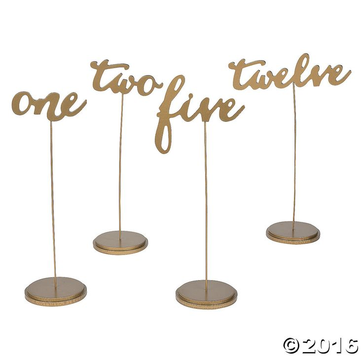 1000+ ideas about Gold Table Numbers on Pinterest