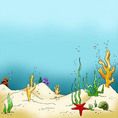 seaweed sea floor in digital