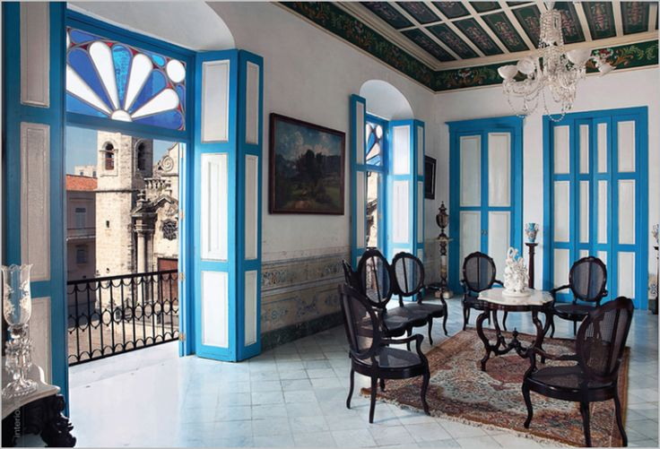 Old world Cuban decor  Colonial Architecture Art and