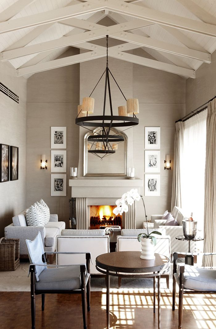 living room  vaulted ceilings  House  Pinterest  Fireplaces Wall colors and Good ideas