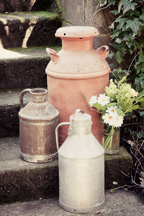 17 Best images about Repurposed Milk Cans on Pinterest