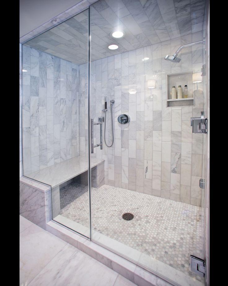 Carerra Marble Custom Steam Shower  Master Bath  Pinterest