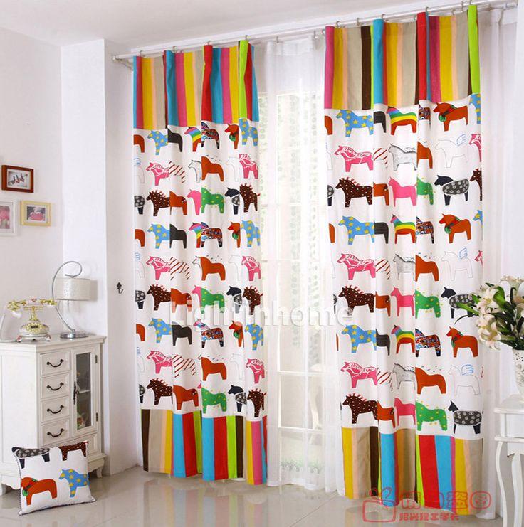 Horse Curtains she likes  Girls Bedroom Decor