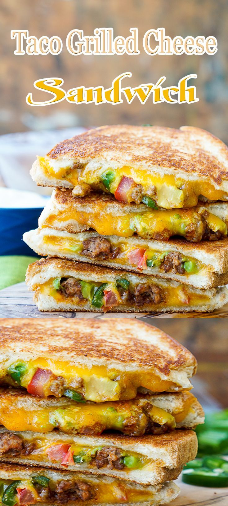 Taco Grilled Cheese… delicious as is but eve better dipped in one of SBRs many dipping sauces.