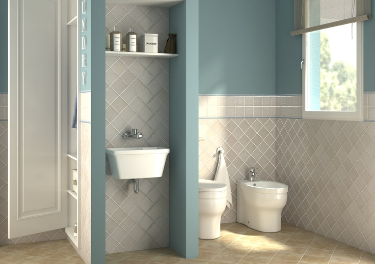 Bagno lavanderia con guardaroba  Progetta il tuo Bagno  Pinterest  House