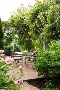 French Country Garden | Secluded patio...beautiful ...