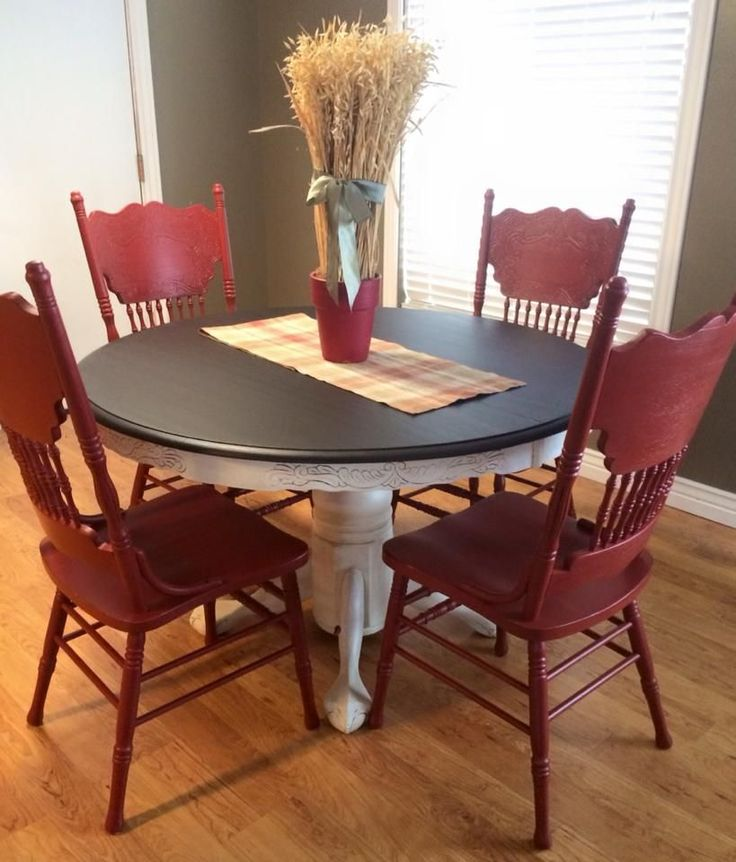 25 best ideas about Red Kitchen Tables on Pinterest