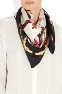 Gucci? ?Printed silk-twill scarf   Sunnies & Scarves ...