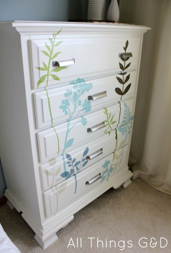 Looking for a cheap and easy way to update an old dresser