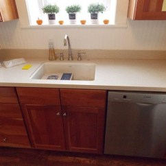 Kohler Kitchen Sink Faucets Buy Island After (corian Countertop In Fossil). & Faucet By ...