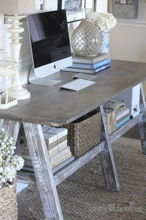 Wood craft table – this could be a DIY project, and depending on finish, the final look can be very different