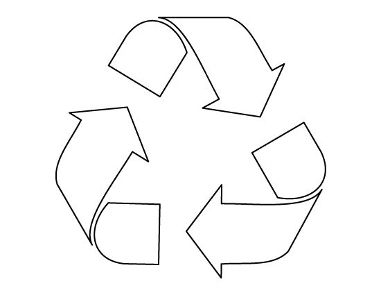 Recycle symbol pattern. Use the printable outline for