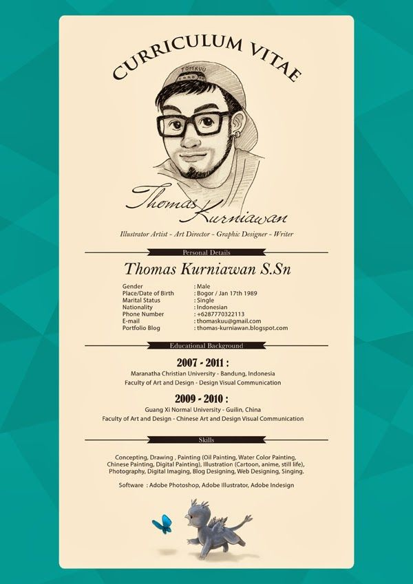 Thomas Kurniawan's Portfolio My Curriculum Vitae CV