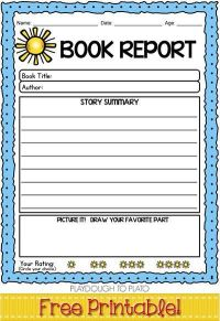1000+ ideas about Book Report Templates on Pinterest ...
