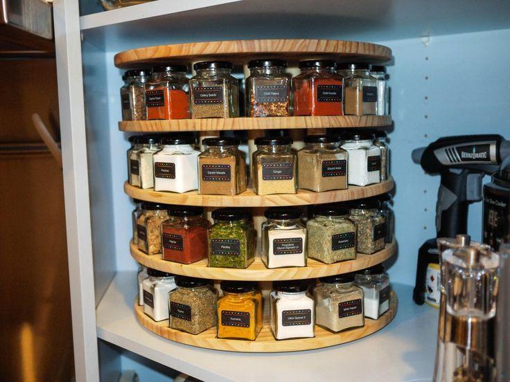 revolving spice racks for kitchen counter rack diy carousel via reddit. http://imgur.com/a ...