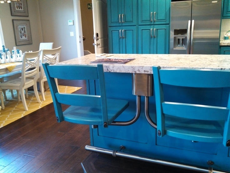 kitchen island table with chairs restoring cabinets attached bar stools | for the home pinterest ...