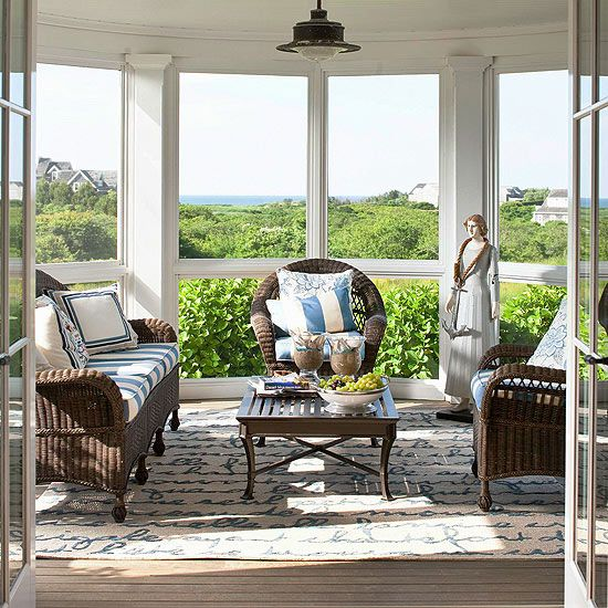 Sunroom Decorating and Design Ideas  Beautiful Focus on