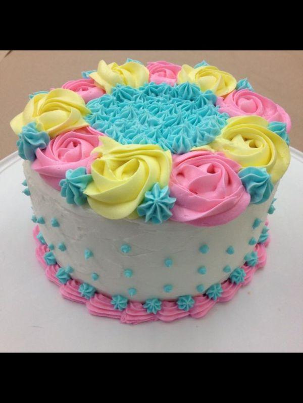 My finale cake!!! Wilton cake decorating course 1 final ...