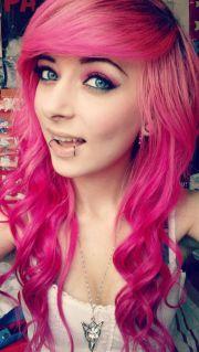 neon pink hair dye hot