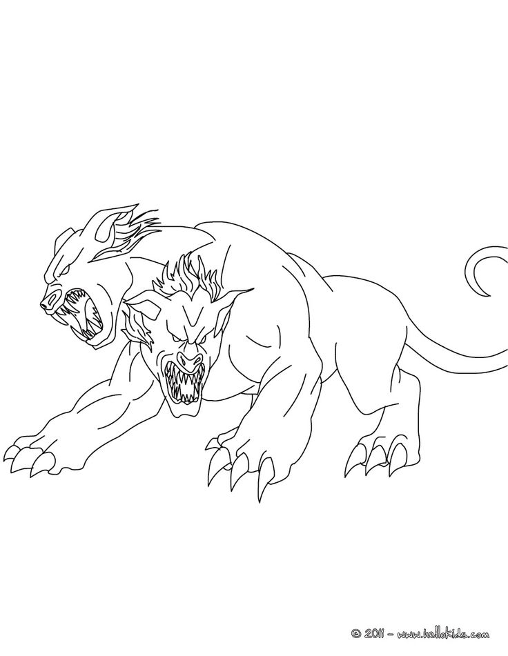 GREEK FABULOUS CREATURES AND MONSTERS coloring pages