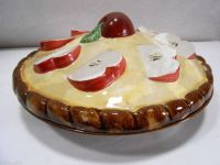 Handmade Covered Apple Pie Plate Stoneware Made in ...