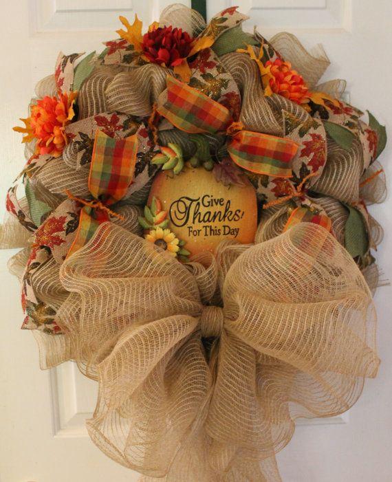 25 Best Ideas About Thanksgiving Wreaths On Pinterest