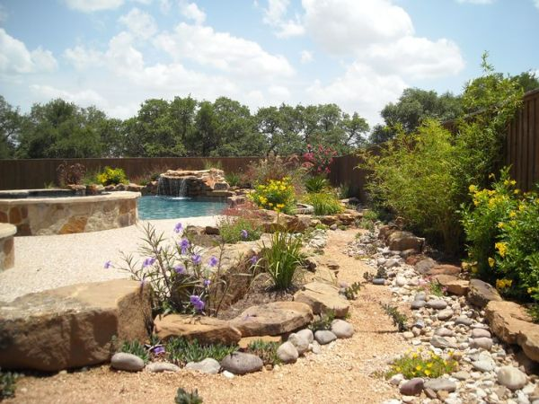 native landscaping pool