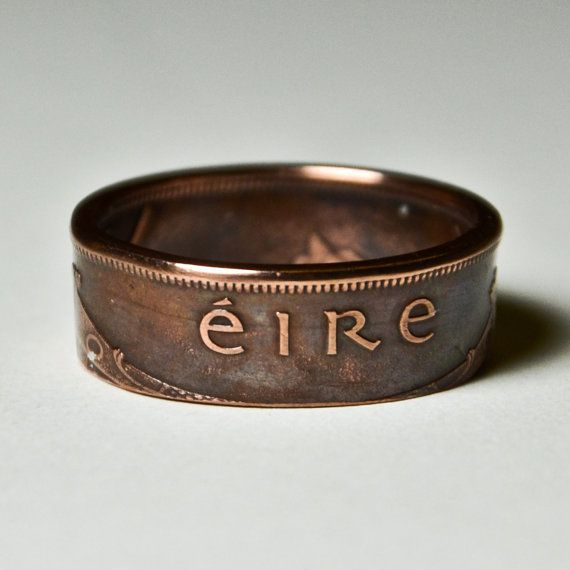 Coin Ring Ireland 1 Pingin Size 13 12 Coins