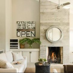Living Room Ideas With Fireplace Black White And Red Asymmetrical Wall | ...