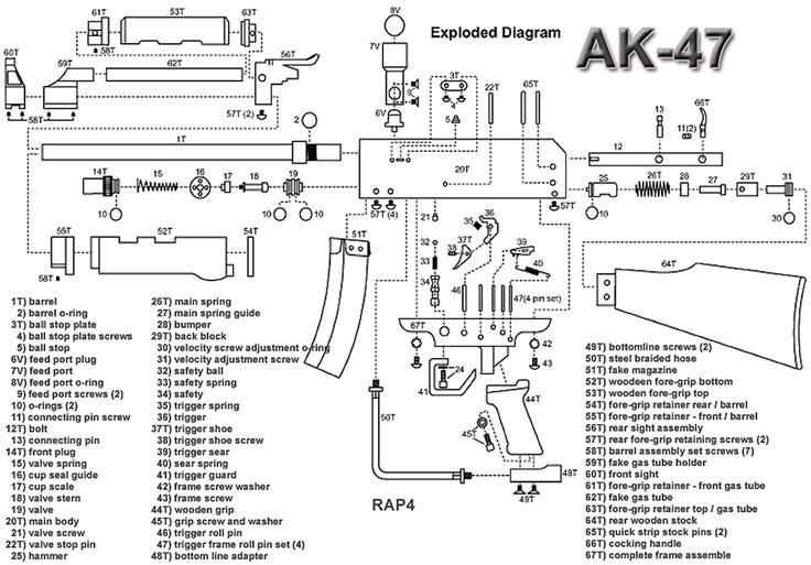 pin ak 47 exploded diagram on pinterest