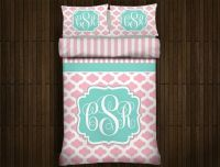 Custom Chevron Monogrammed Duvet Bedding by Slive88 on ...