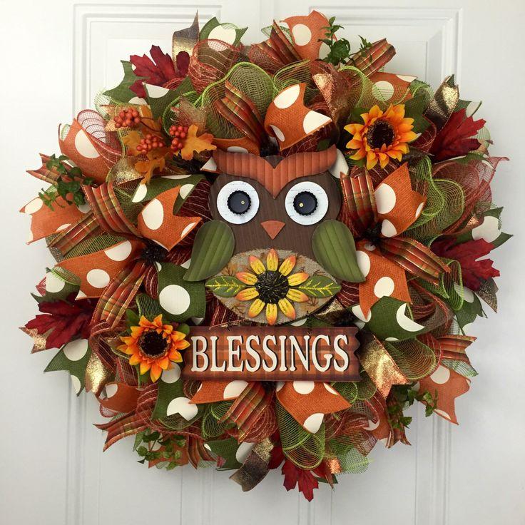 17 Best ideas about Owl Wreaths on Pinterest