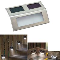 LED Solar Wedge Lights for Stairways, Fence or Patio ...