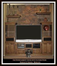 Custom Built stone Entertainment Center Ideas | Chandler ...