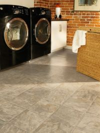 Upstairs vinyl flooring in bathrooms and laundry room ...