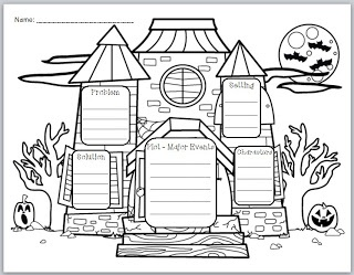 Story elements, Haunted houses and Graphic organizers on