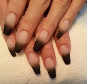 ombre coffin nails style