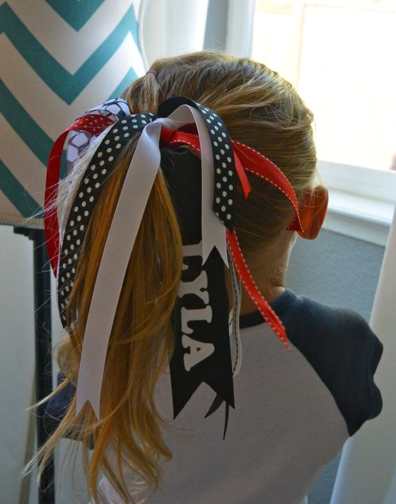 Softball Bow Hair