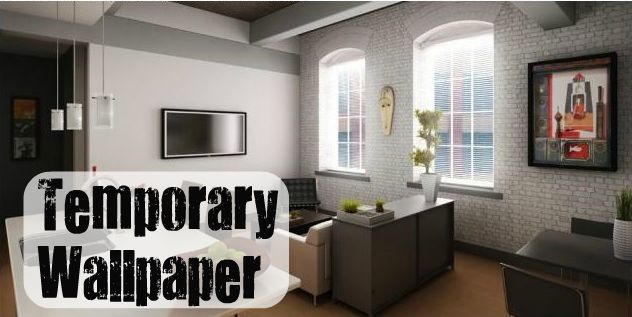 Temporary Decorating Solutions for Renters Part 2  Temporary wall Temporary wallpaper and Paper